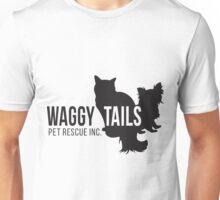 Waggy Tails Pet Rescue Inc Black Logo Unisex T-Shirt