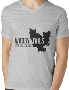 Waggy Tails Pet Rescue Inc Black Logo T-Shirt