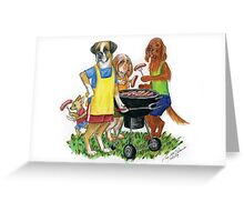 BBQ Sausage Sneaks Greeting Card