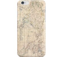 Vintage Map of The World (1799) iPhone Case/Skin