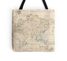 Vintage Map of The World (1799) Tote Bag