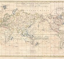 Vintage Map of The World (1799) by BravuraMedia