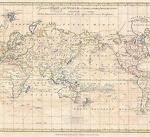 Vintage Map of The World (1799) by BravuraMedia