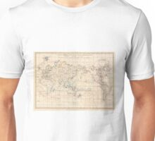 Vintage Map of The World (1799) Unisex T-Shirt