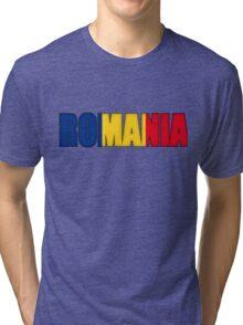 Romania Flag  Tri-blend T-Shirt