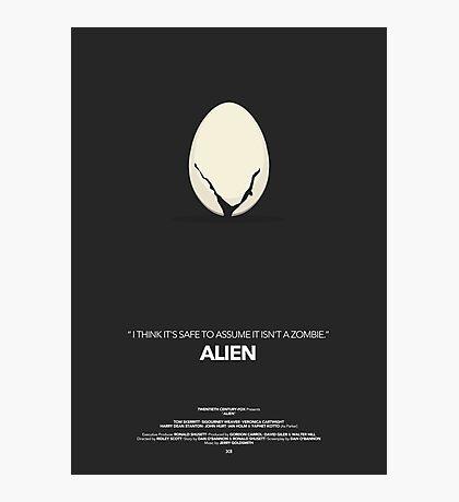 Alien Movie Poster Photographic Print