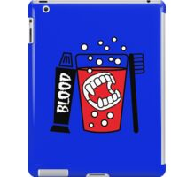 Vampire Tooth Brush and Glass iPad Case/Skin