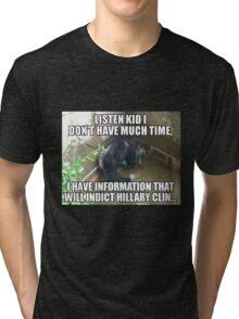 Harambe on Clinton Tri-blend T-Shirt