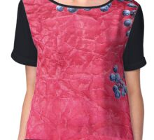 Wild grapes on crumpled texture Chiffon Top