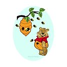 Pooh Bear takes care of his tummy (6599  Views) by aldona