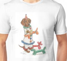 Dachshund Clowning Around Unisex T-Shirt