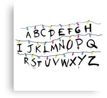 Stranger Things Alphabet Canvas Print