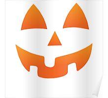 Pumpkin Halloween Jack O Lantern Face Poster