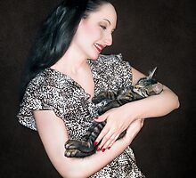 Kitten Love - Self Portrait w/Mikino by Jaeda DeWalt