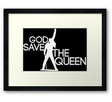 God save the queen Freddie Mercury design Framed Print