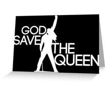 God save the queen Freddie Mercury design Greeting Card