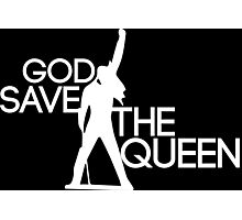 God save the queen Freddie Mercury design Photographic Print