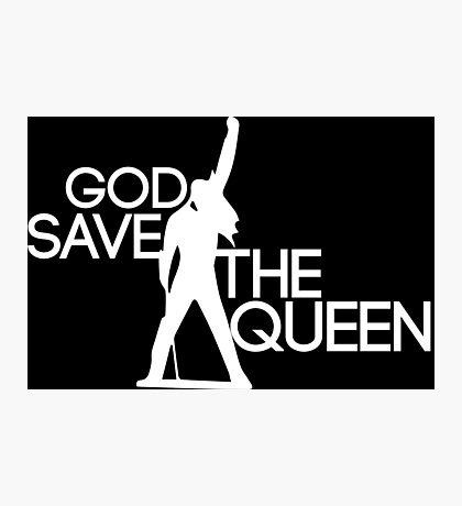 God save the queen Freddie Mercury design Photographic Print