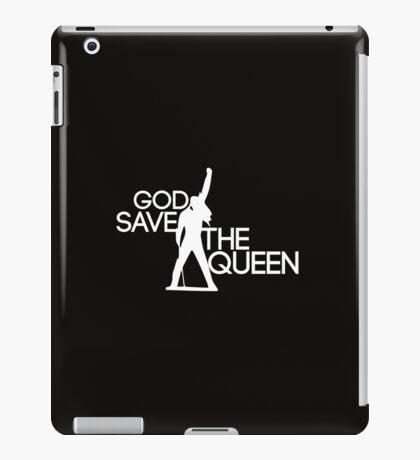 God save the queen Freddie Mercury design iPad Case/Skin