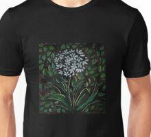 Silk painting of an allium flower Unisex T-Shirt