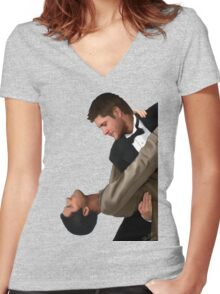 May I have this dance? Women's Fitted V-Neck T-Shirt