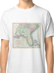 Vintage Map of The Southeastern U.S. (1806) Classic T-Shirt