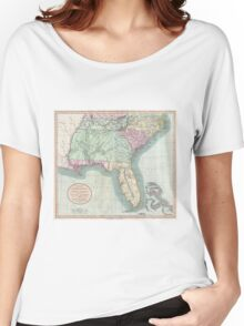 Vintage Map of The Southeastern U.S. (1806) Women's Relaxed Fit T-Shirt