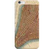 Vintage Map of Lower New York City (1807) iPhone Case/Skin
