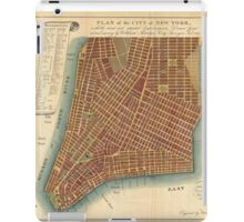 Vintage Map of Lower New York City (1807) iPad Case/Skin