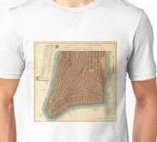Vintage Map of Lower New York City (1807) Unisex T-Shirt