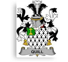Quill Coat of Arms (Irish) Canvas Print