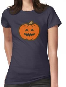 Halloween Jack O' Lantern Pattern in Oranges Womens Fitted T-Shirt