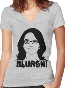 Blurgh! Women's Fitted V-Neck T-Shirt