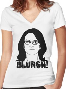 Blurgh! Women's Fitted V-Neck T-Shirt