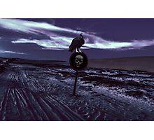 Death Road Dark Scene Photographic Print