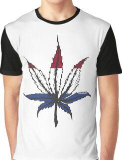 Cannabis (marijuana) leaf ,hand drawn Graphic T-Shirt