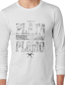 narcos plata o plomo Long Sleeve T-Shirt