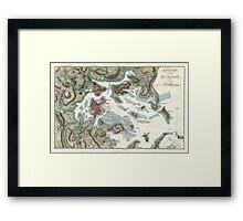 Vintage Map of Boston Harbor (1807) Framed Print