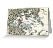Vintage Map of Boston Harbor (1807) Greeting Card