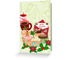 Christmas Cup Cakes (2811 Views) Greeting Card