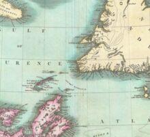 Vintage Map of Nova Scotia and Newfoundland (1807) Sticker