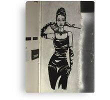 Audrey Hepburn inspired graffiti Canvas Print