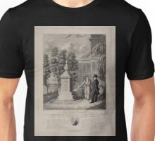 535 The Actor's Monument the late Edmund Kean Esqre contemplating the tomb he caused to be erected to the memory of George Frederick Cooke in Saint Paul's Church Yard Unisex T-Shirt