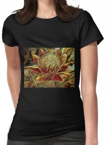 Knitted Torch Womens Fitted T-Shirt