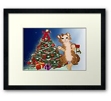 Kitty is set for Christmas ( 583 Views) Framed Print