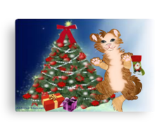 Kitty is set for Christmas ( 583 Views) Canvas Print