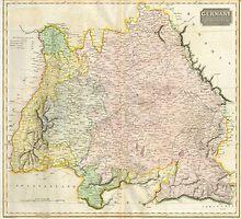 Vintage Map of Bavaria Germany (1814) by BravuraMedia