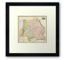 Vintage Map of Bavaria Germany (1814) Framed Print