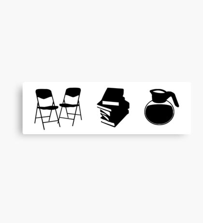 Makes a Meeting (Chairs, Literature, and Coffee) Canvas Print