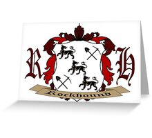 Rockhound Coat of Arms Greeting Card
